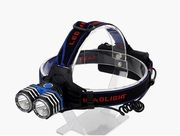 Ladattava otsalamppu, USB, 2xT6 LED, 1200 lumen - Pro1Lights