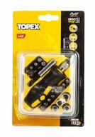 Ruuvimeisseli ja ruuvauskärkisarja, 22-osainen, TOPEX
