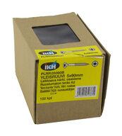 Yleisruuvi 5x90mm, leikkaava kärki, osakierre, RST, ruskea, Torx TX25-kanta, 100 kpl/pkt + ruuvauskärki
