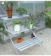 Kasvihuoneen porraspöytä, alumiini; VillaGreen C