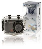 Full HD -action-kamera, 1080p, vedenpitävä kotelo