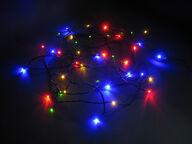 Jääkristalli Collection LED-ulkovalosarja, 40 lamppua, monivärinen