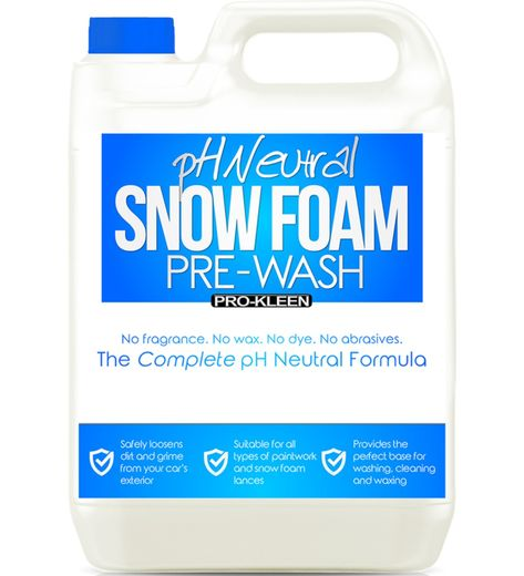 Vaahdottimen esipesuaine 5L,  pH-neutral Snow Foam Pre-Wash - Pro-Kleen