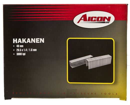 Hakanen 26,5x40mm, 3000kpl - Aicon