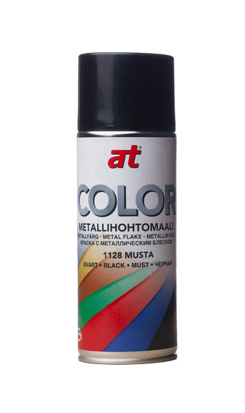 Metallihohtomaali 520ml, musta - AT Color