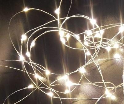 Lankavalosarja, 20 LED, kylmä valkoinen - Crystal Decors