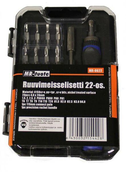 Ruuvimeisselisarja 22-osainen - MR-tuote