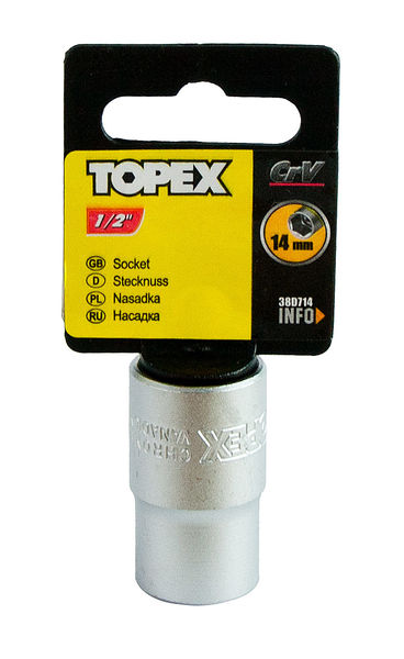 "Hylsy 1/2"", 14mm, TOPEX"