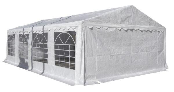 Juhlateltta 5x8m, 500g katto / 380g seinät, valkoinen