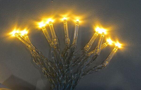 Sisävalosarja 20 LED, lämmin valkoinen - Jääkristalli Collection