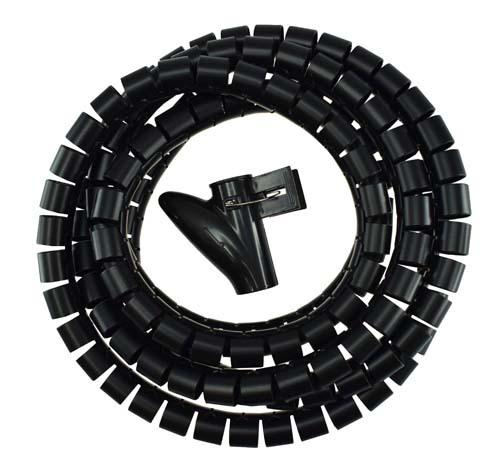 Kaapelipiilo 2,5 m, musta, 20 mm - ElectroGEAR