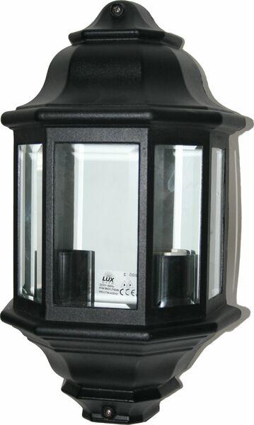 Seinävalaisin / ulkovalaisin, musta, 2x60W, IP44 - Lux Lite