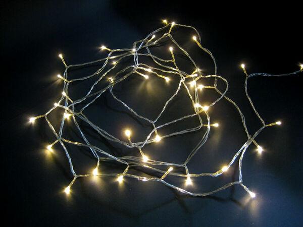 Valosarja 40 LED, lämmin valkoinen, sisä- ja ulkokäyttöön - Jääkristalli